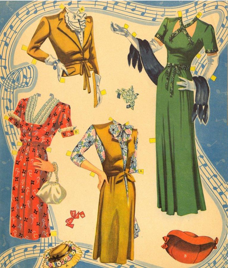 Одежда для бумажной куклы, фото