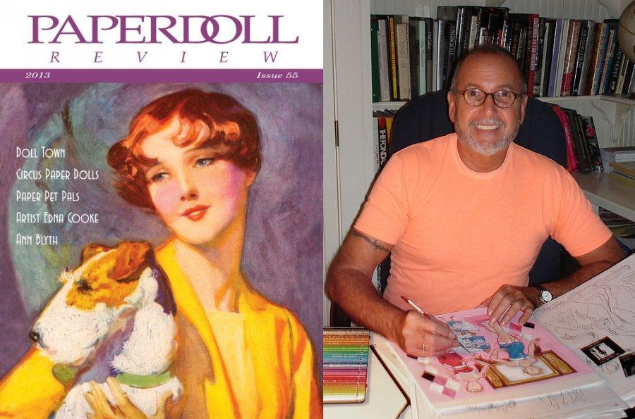 Художник рисует кукол, обложка журнала