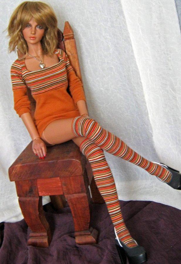 Красивая БЖД кукла в одежде, фото