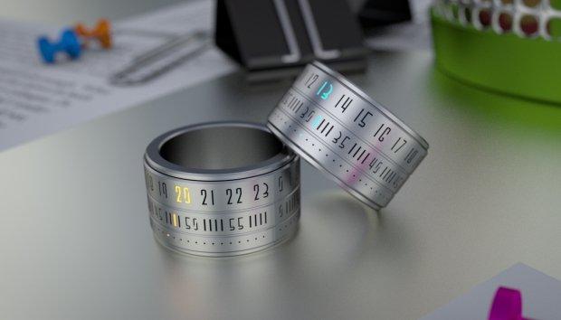 Необычные часы в форме кольца, фото