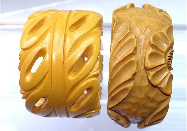 Широкие браслеты из бакелита, фото