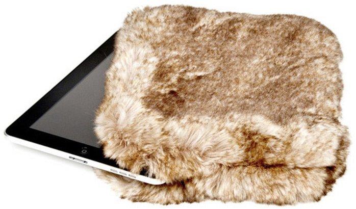 Меховой чехол для планшета iPad, фото
