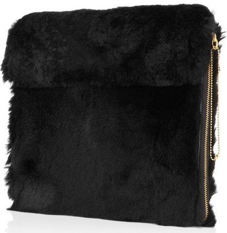 Черный меховой чехол – сумка, фото