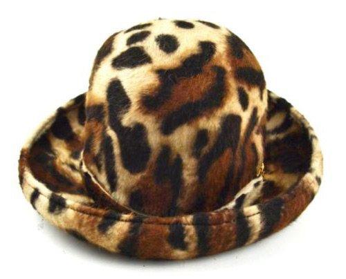 Леопардовая фетровая шляпа, фото