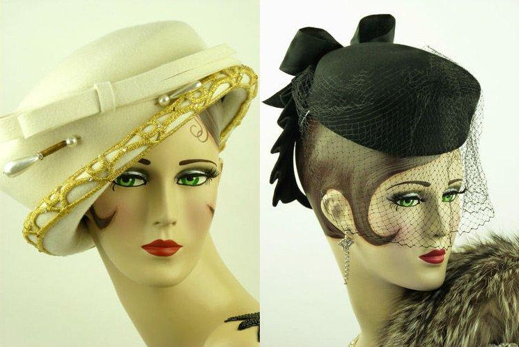 Женские фетровые шляпки, фото