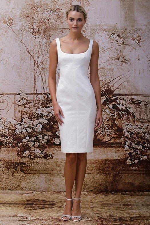 Короткое свадебное платье, фото