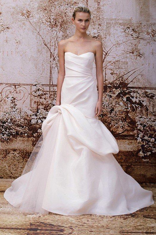 Белое свадебное платье Моник Люлье