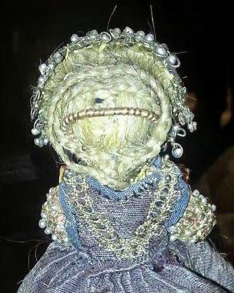 Прическа куклы из натуральных волос, фото