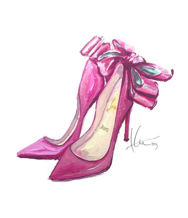 рисунок – иллюстрация, туфли