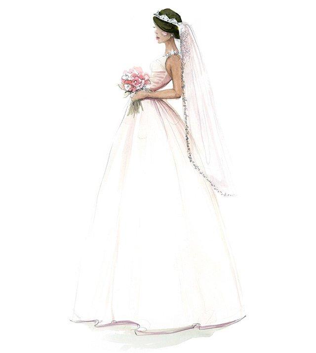 рисунок – иллюстрация, невеста