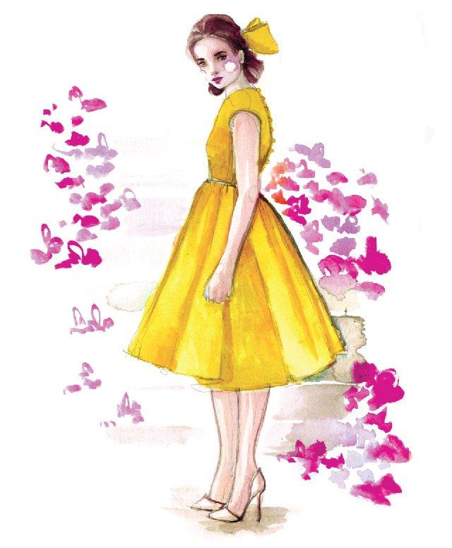 рисунок – иллюстрация, красивая девушка