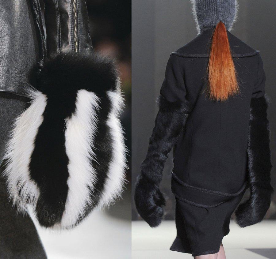 Модные меховые варежки, 2013-2014, фото