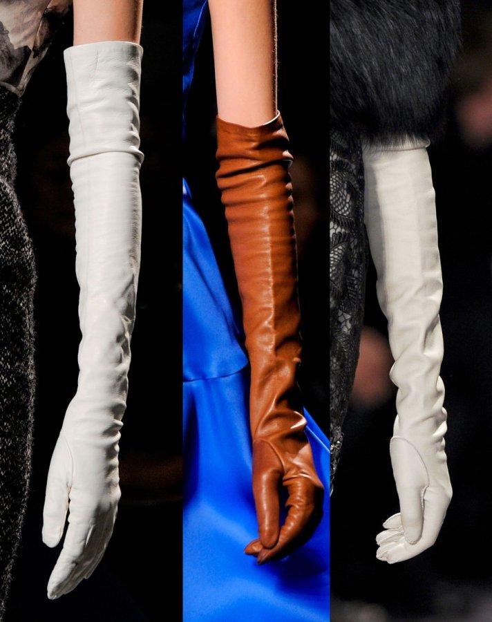 Модные длинные перчатки, фото