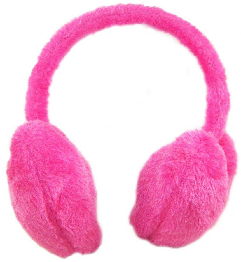 Розовые наушники, фото