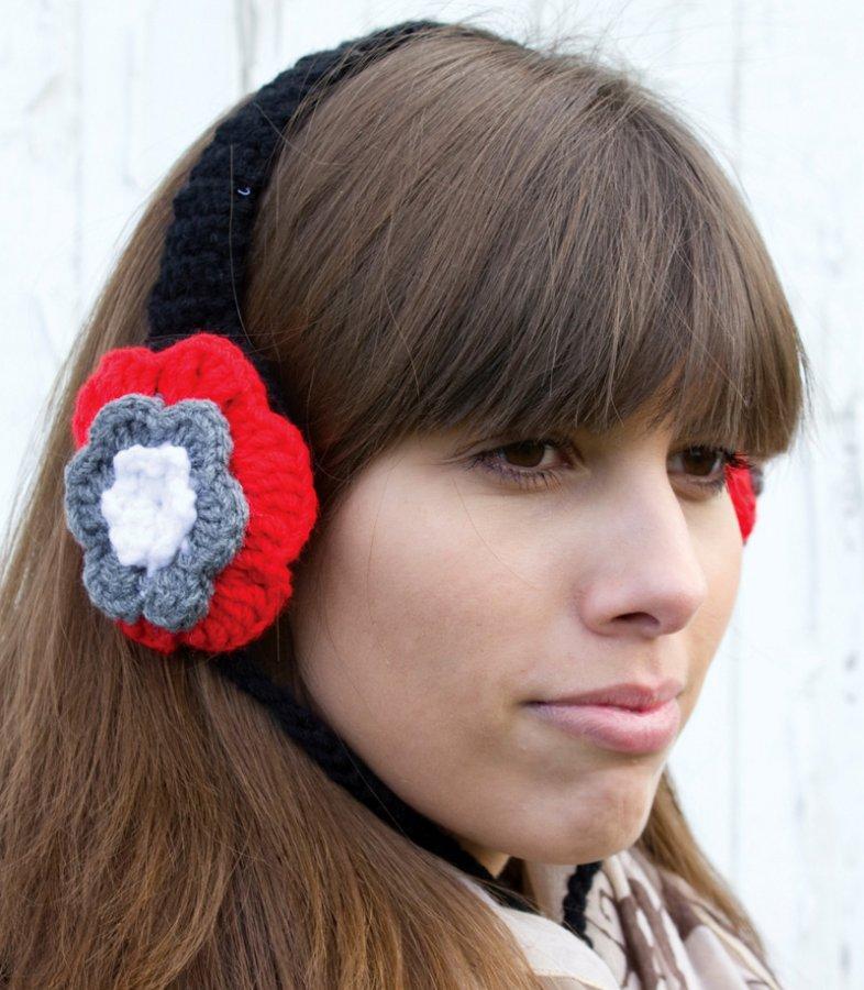 Вязаные наушники для девочек, фото