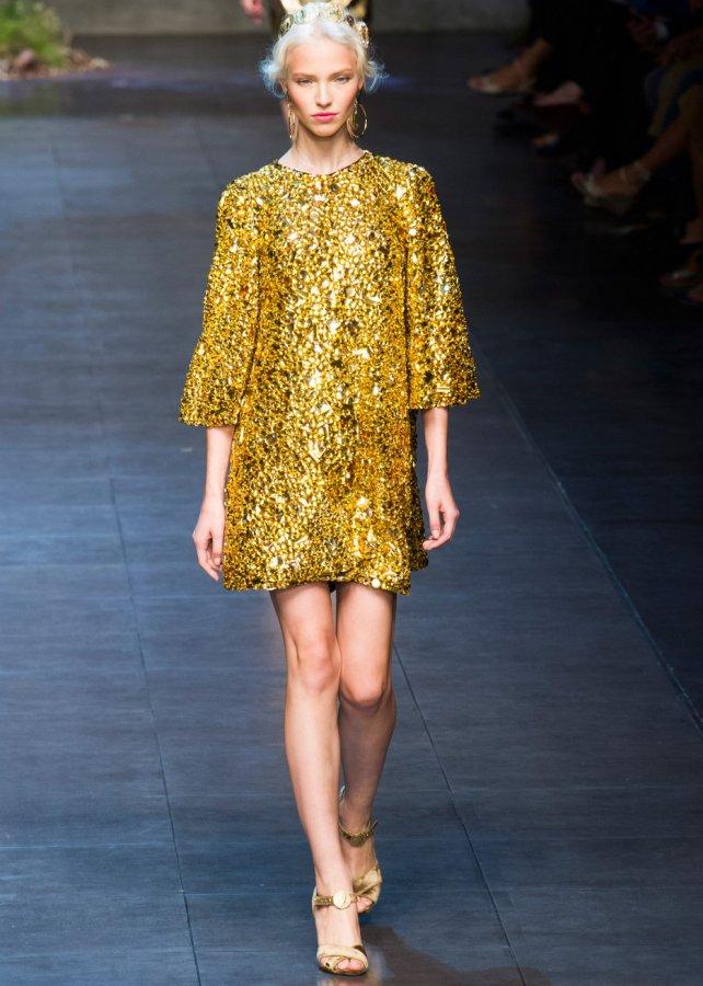 Золотое Платье Dolce & Gabbana, фото