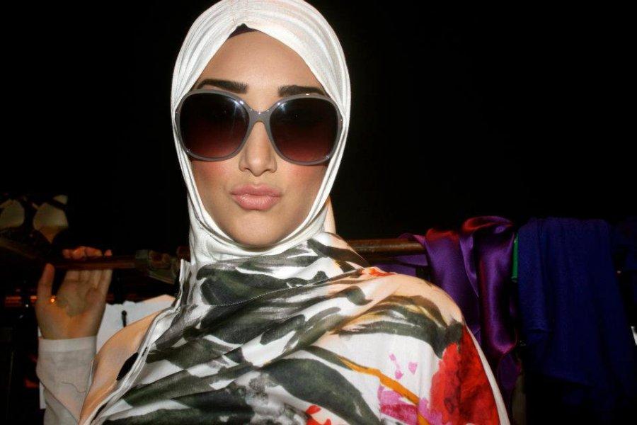 Мусульманский платок и очки, фото