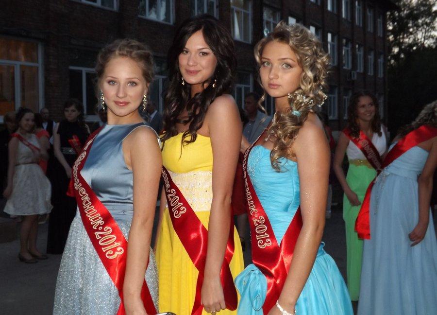 Школьницы – выпускницы, фото девушек