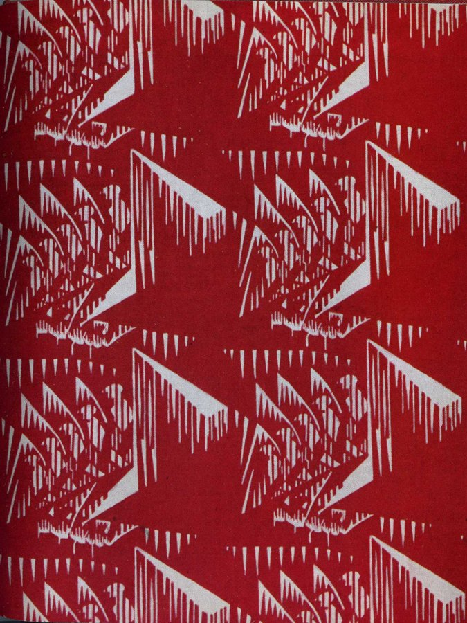 Красная ткань со звездами, фото