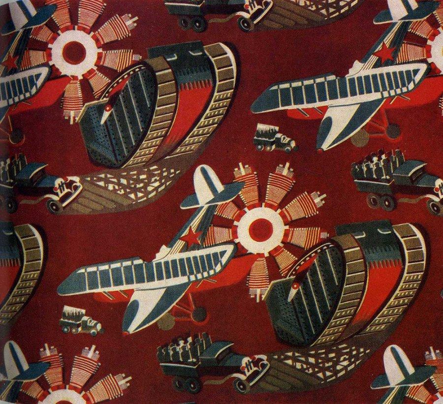 Авангардный принт на тканях начала 20 века, фото