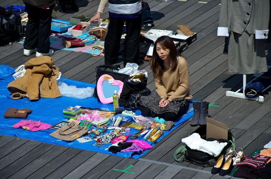 Торговля на рынке в Японии