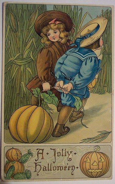 Хеллоуин - винтажные открытки!