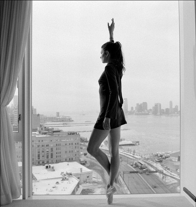 Балерина, фото вне театра
