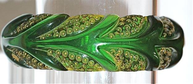 Зеленый винтажный браслет