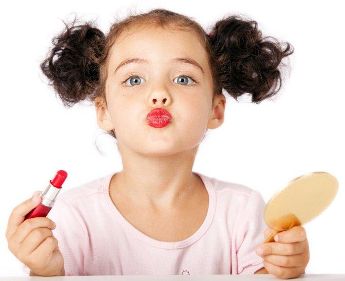 Фото девочек с макияжем – косметика для детских фотосессий