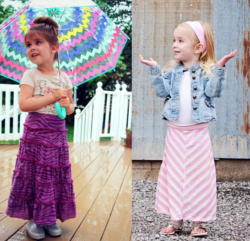 Маленькие девочки – фото в длинных юбках