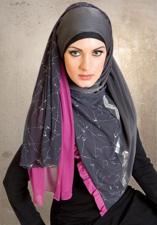 Красивый исламский платок, фото