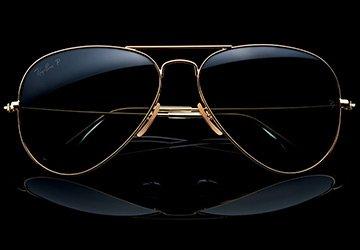 Золотые очки Авиаторы в подарок