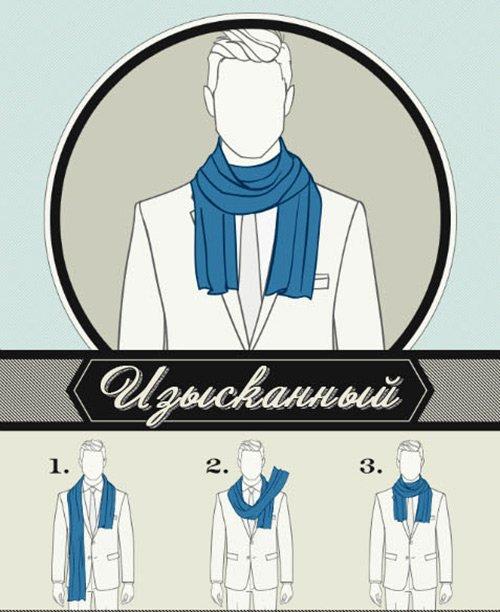 Завязываем мужской шарф