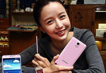 Samsung начинает продажи розового Galaxy Note 3