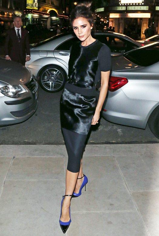 Виктория Бекхэм – фото в платье