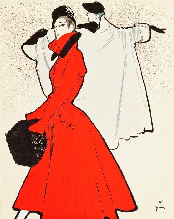 Модная иллюстрация Рене Грюо