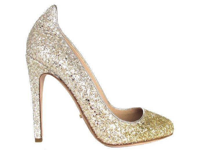 Женские туфли с блестками