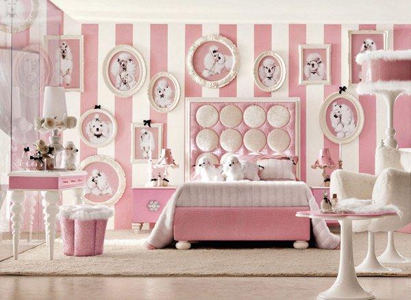 розовый в интерьерах