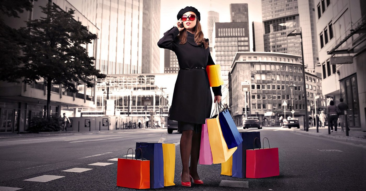 online shopping and high street shopping