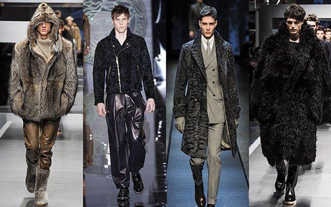 Куртки с меховой отделкой и шубы для мужчин