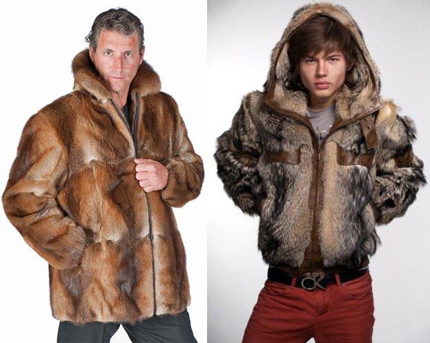 Шубы и куртки с мехом для мужчин