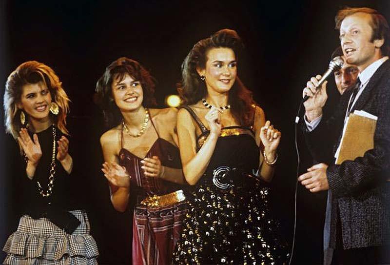 Участницы конкурса красоты - Мисс Москва 1988