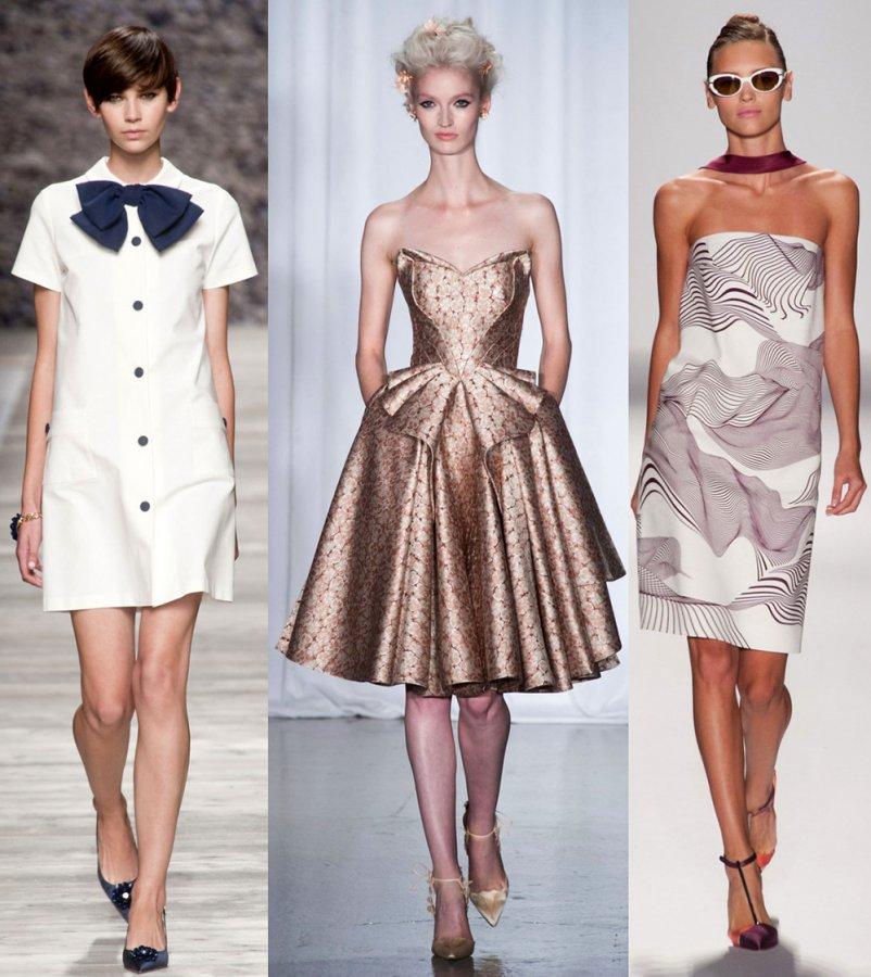 Модные платья Blugirl, Zac Posen, Carolina Herrera