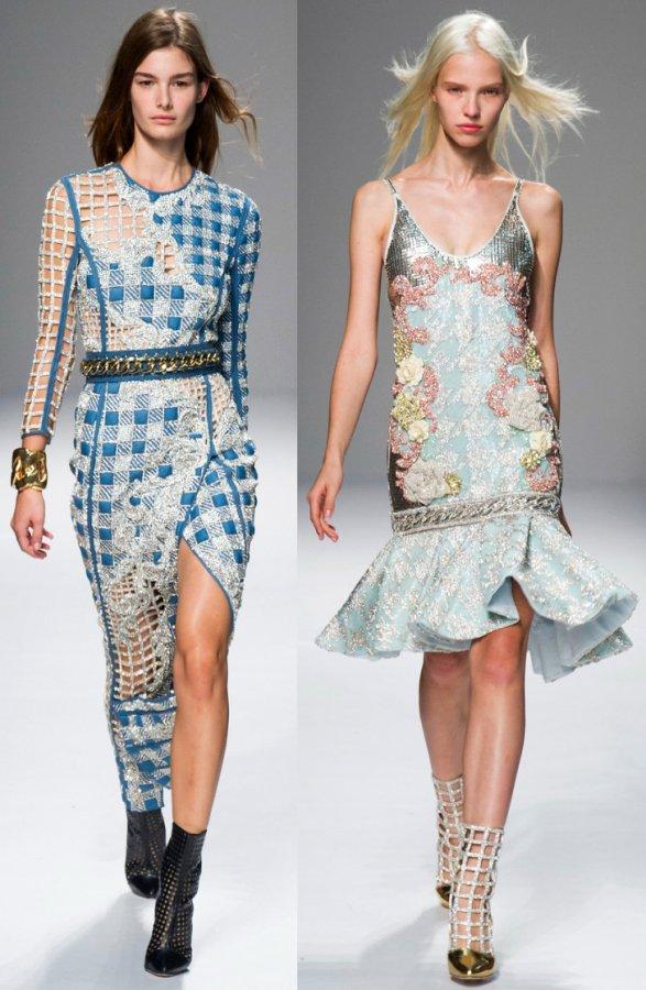 Мода весна-лето 2014, фото платья Balmain