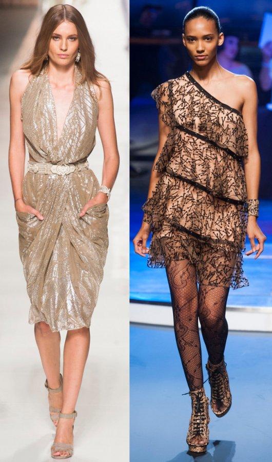 платья из коллекций Etro, Jean-Paul Gaultier
