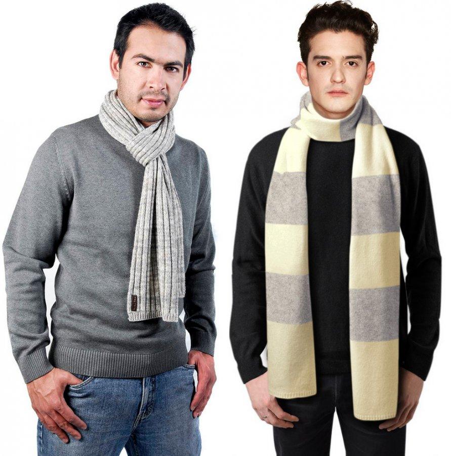 Как завязать мужской шарф, фото