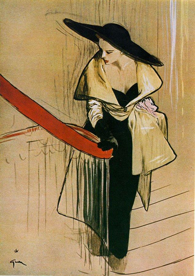 Модные рисунки Рене Грюо