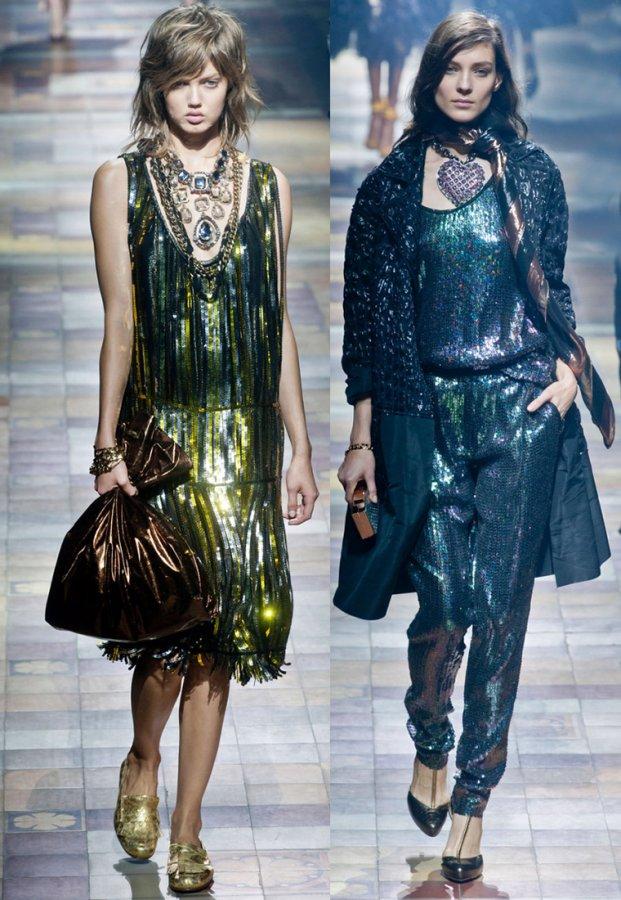 Модная одежда с пайетками и блестками
