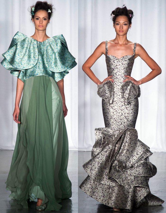 Длинные вечерние платья Zac Posen