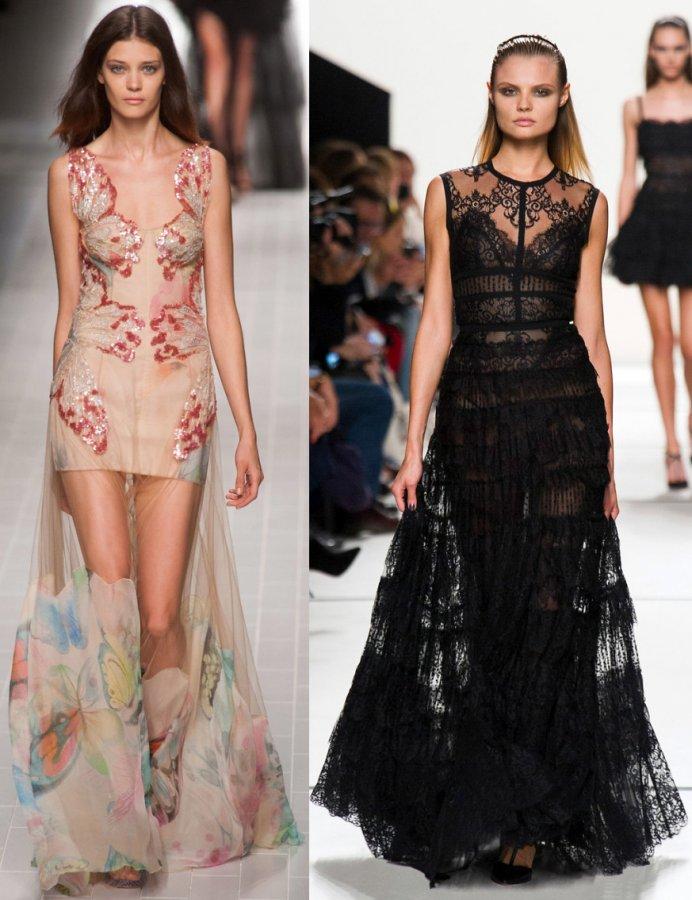 Красивые платья в пол – 2014